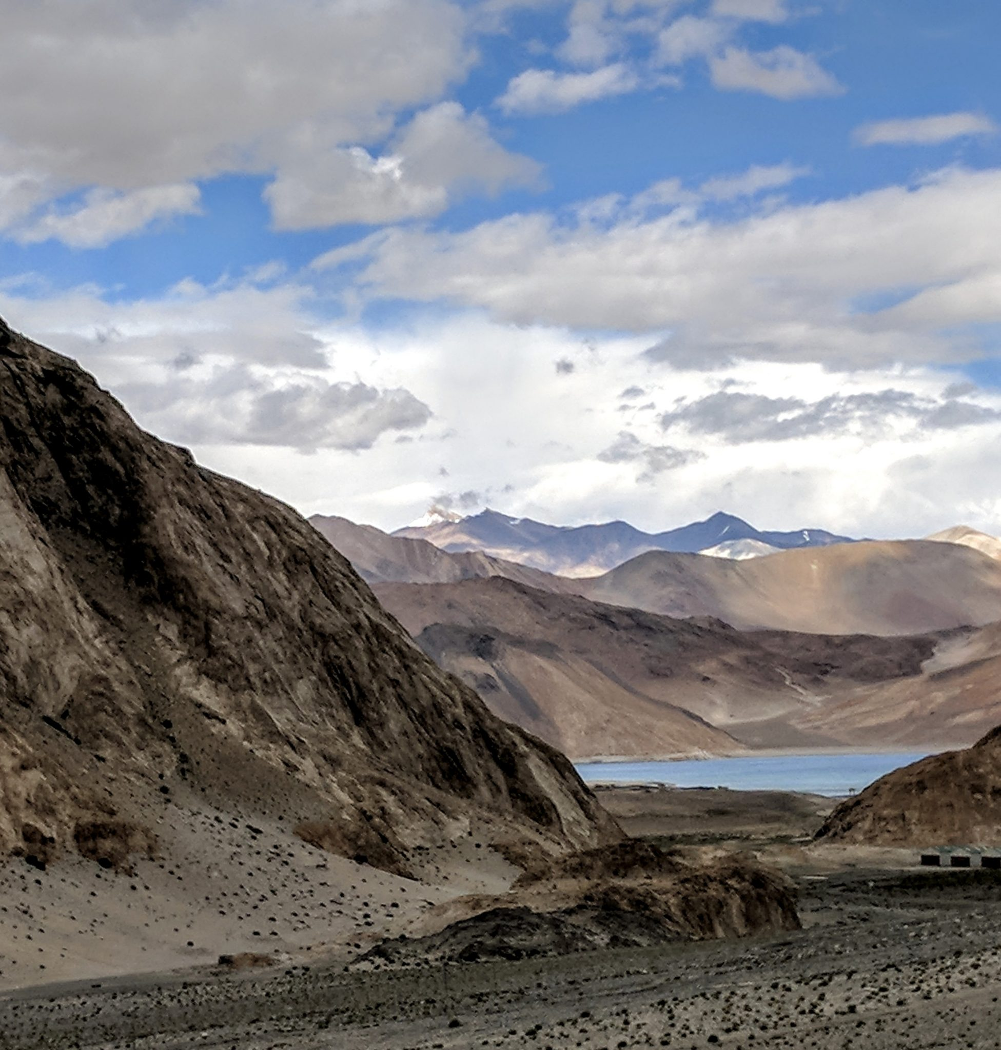 First glimpse ….Pangong lake.