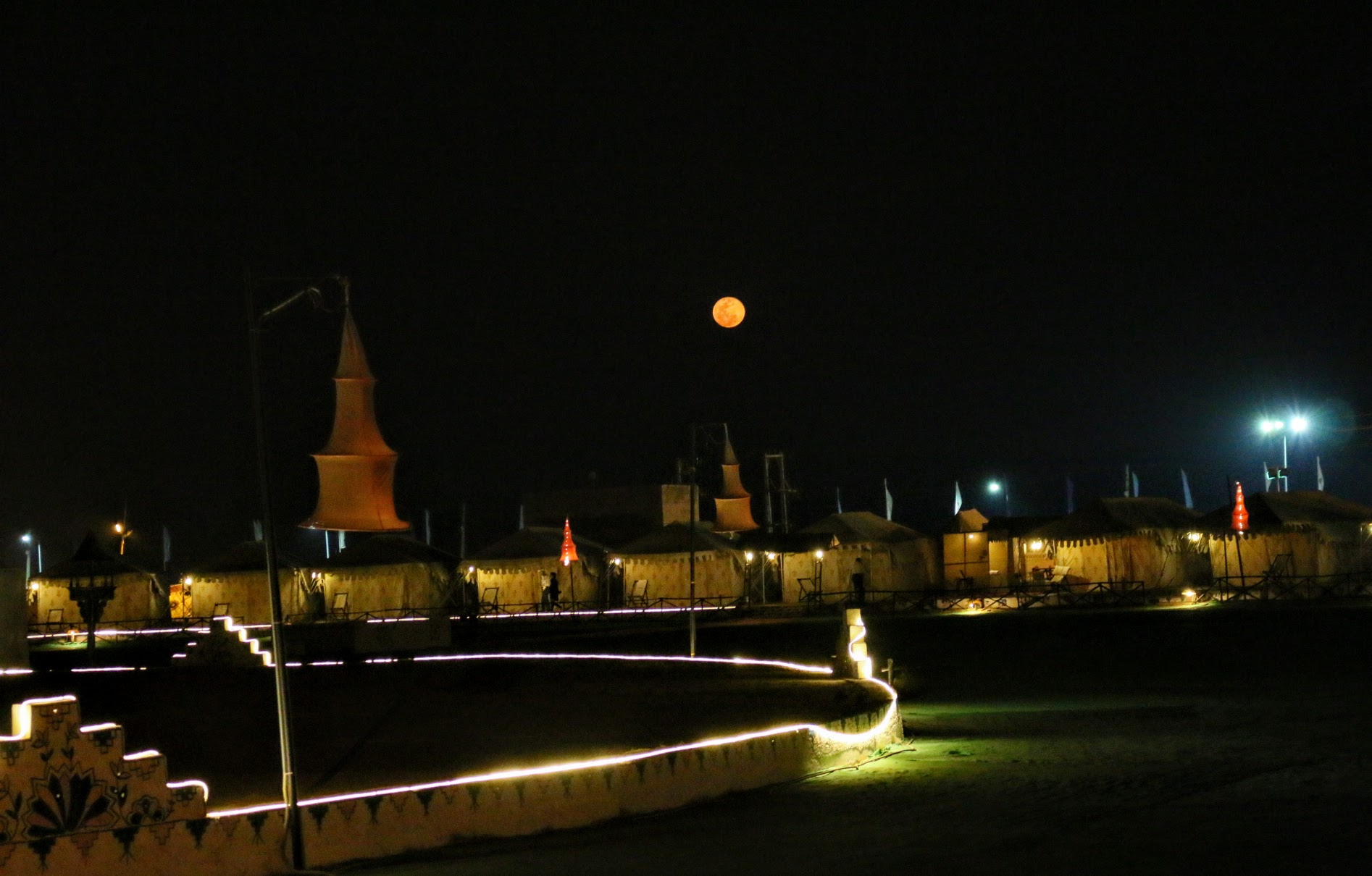 The Rann Of Kutch Campsite at Night